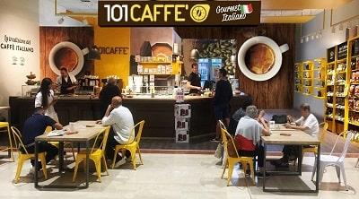 101CAFFE Caffetteria con Market 3 min