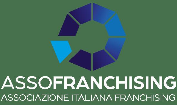 Logo Assofranchising Verticale bianco